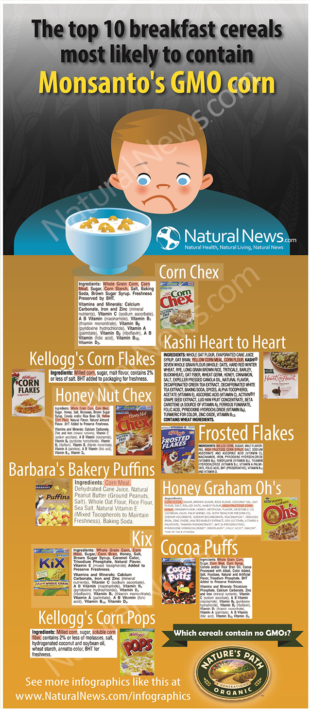 Infographic-10-Breakfast-Cereals-Most-Likely-Contain-Monsanto-GMO-Corn